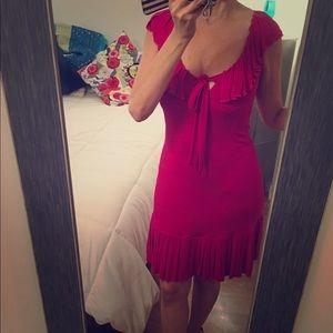 Pink DVF dress